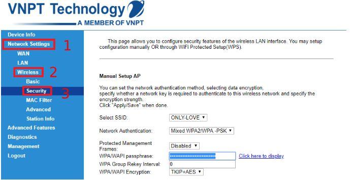 Hướng dẫn cách thay đổi mật khẩu wifi mạng VNPT