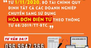 Bộ Tài chính quy định từ ngày 01/11/2020 tất cả doanh nghiệp chuyển sang sử dụng hóa đơn điện tử