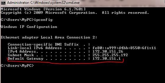 Địa chỉ IP modem FPT
