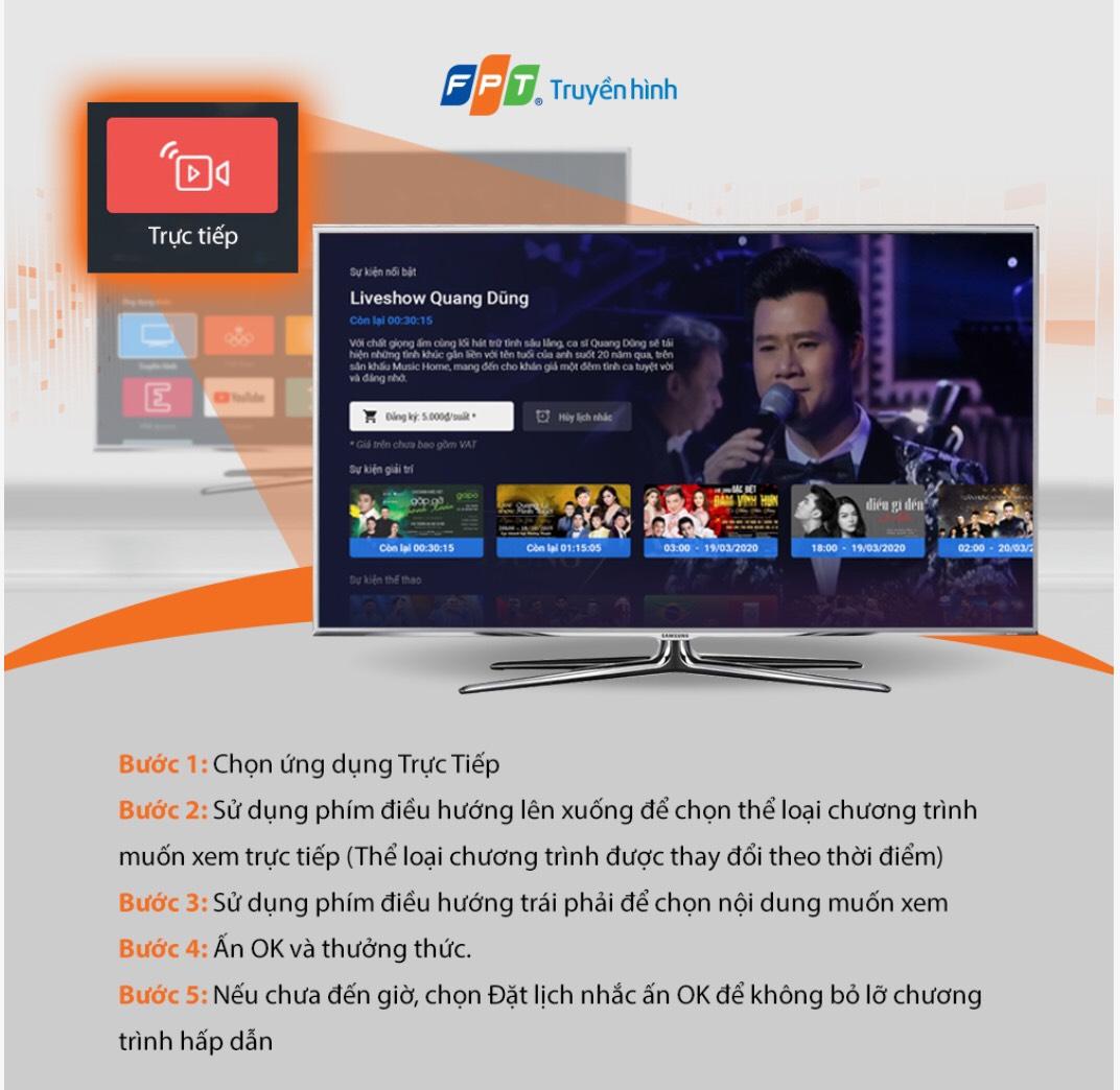 nâng cấp ứng dụng trực tiếp trên truyền hình fpt