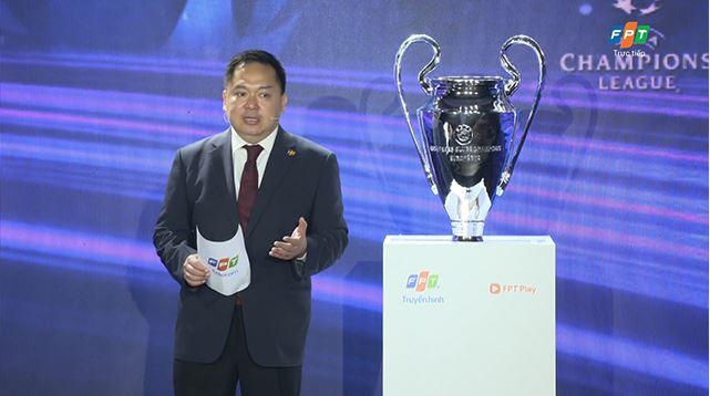 Ông Hoàng Nam Tiến công bố độc quyền phát sóng giải đấu UEFA