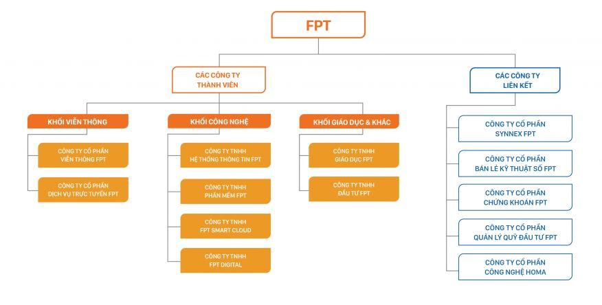 mô hình công ty thành viên fpt